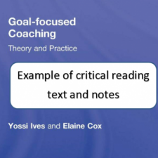 Image of Critical reading text and notes document